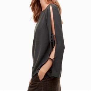 Wilfred Pozzi Tie Sleeve Blouse - Lavender/Grey